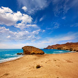 Almeria Playa del Monsul beach at Cabo de Gata Royalty Free Stock Image