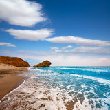 Almeria Playa del Monsul beach at Cabo de Gata Stock Photos