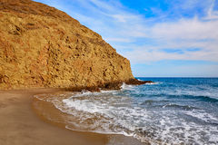 Almeria Playa del Monsul beach at Cabo de Gata Royalty Free Stock Photo