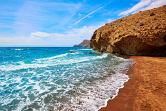 Almeria Playa del Monsul beach at Cabo de Gata Stock Image