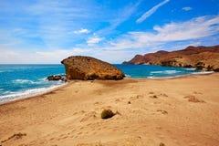 Almeria Playa del Monsul beach at Cabo de Gata. In Spain Royalty Free Stock Images