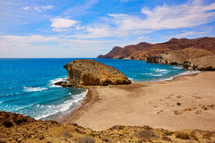 Almeria Playa del Monsul beach at Cabo de Gata Stock Photo