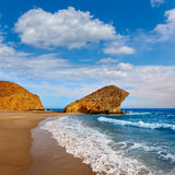 Almeria Playa del Monsul beach at Cabo de Gata Stock Photography