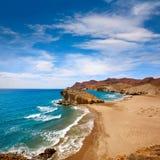 Almeria Playa del Monsul beach at Cabo de Gata. In Spain Stock Photography