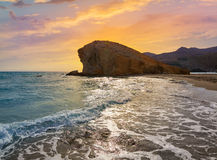 Almeria Playa del Monsul beach Cabo de Gata Royalty Free Stock Images