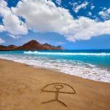 Almeria Playa Genoveses beach Cabo de Gata Royalty Free Stock Photos