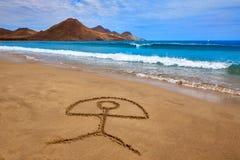 Almeria Playa Genoveses beach Cabo de Gata Stock Images
