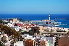 Almeria Port e costruzioni, Spagna Immagine Stock Libera da Diritti