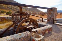 Almeria in ruota idraulica di Cabo de Gata Rodalquilar Fotografie Stock Libere da Diritti