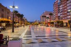 Almeria Spain September 1, 2014: La gente che gode dell'estate anche Fotografie Stock Libere da Diritti