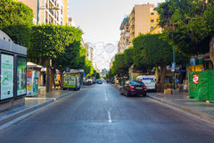 Almeria Spain September 1, 2014: modern streets and avenues of t Royalty Free Stock Images