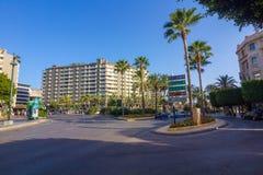 Almeria Spain September 1, 2014: vie e viali moderni della t Fotografia Stock