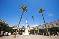 Almeria in Spain. Square in Almeria in Spain royalty free stock photo