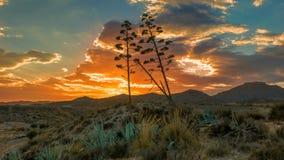 Almeria Sunset Fotografia Stock Libera da Diritti