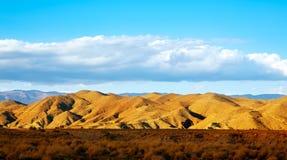 Almeria Tabernas desert mountains in Spain. Blue sky day Royalty Free Stock Photography