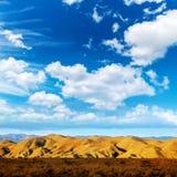 Almeria Tabernas desert mountains in Spain. Blue sky day Royalty Free Stock Photos