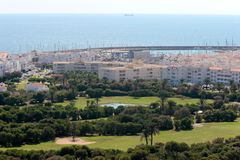 Almerimar golf course and port in Spain Stock Photography