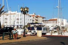 Almerimar harbour, Spain. Royalty Free Stock Image