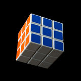 Almetyevsk City, Russia - February 7, 2017: Toy Rubik`s Cube Stock Photos
