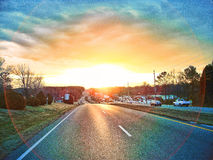 The Almighty Sunrise on University Drive Stock Images