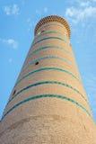Alminar de Khoja del Islam, Khiva foto de archivo