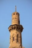 Alminar de la mezquita antigua fotografía de archivo