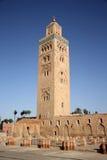Alminar de la mezquita de Koutoubia en Marrakesh, Marruecos Imagenes de archivo