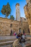 Alminar de la mezquita de Omer en Jerusalén Fotografía de archivo