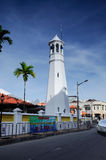 Alminar de Masjid Kampung Hulu en Malaca, Malasia Imagen de archivo