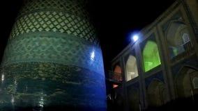 Alminar de menor importancia inacabado Muhammad Amin Khan Khiva, Uzbekistán del alminar de Kalta almacen de metraje de vídeo