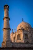 Alminar de Taj Mahal Imágenes de archivo libres de regalías