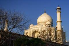 Alminar de Taj Mahal Imagen de archivo libre de regalías