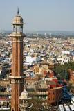 Alminar en Delhi imagenes de archivo