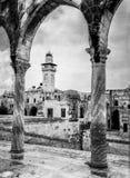 Alminar en la Explanada de las Mezquitas Imagen de archivo
