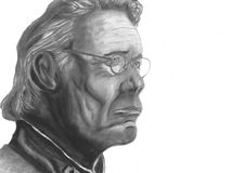 Almirante Adama de Battlestar Galactica ilustração royalty free