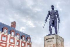 Almirante Brown kwadrat w Mar Del Plata, Argentyna zdjęcie royalty free