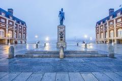 Almirante Brown Square in Mar del Plata, Argentina Royalty Free Stock Photo