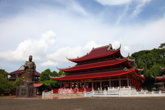 Almirante Cheng Ho Statue e templo fotografia de stock royalty free