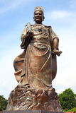 Almirante Cheng Ho Statue e templo imagens de stock