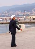 Almirante contrario de la marina de guerra italiana Foto de archivo libre de regalías