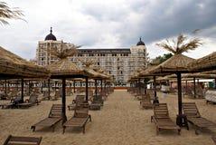 Almirante Resort Beach por una tarde tempestuosa Fotografía de archivo libre de regalías