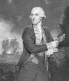 Almirante Samuel Hood Fotografía de archivo libre de regalías