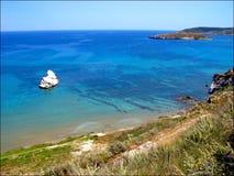 Almirida-Strand chania Griechenland, das privaten Standort überrascht lizenzfreies stockfoto
