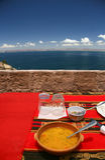 Ilha de Taquile, alimento típico Imagens de Stock