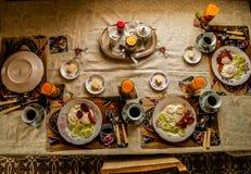 Almoço caseiro para uma família inteira Foto de Stock