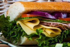 Almoço claro com sanduíche Imagens de Stock Royalty Free