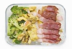 Almoço da caixa Fotografia de Stock Royalty Free