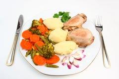 Almoço da galinha fotografia de stock royalty free