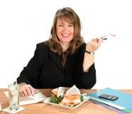 Almoço da mulher de negócios Foto de Stock Royalty Free