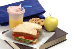 Almoço de escola imagem de stock